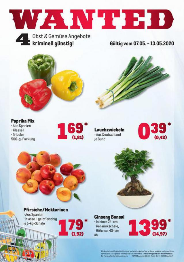 Obst & Gemüse Frischepreise . Metro (2020-05-13-2020-05-13)