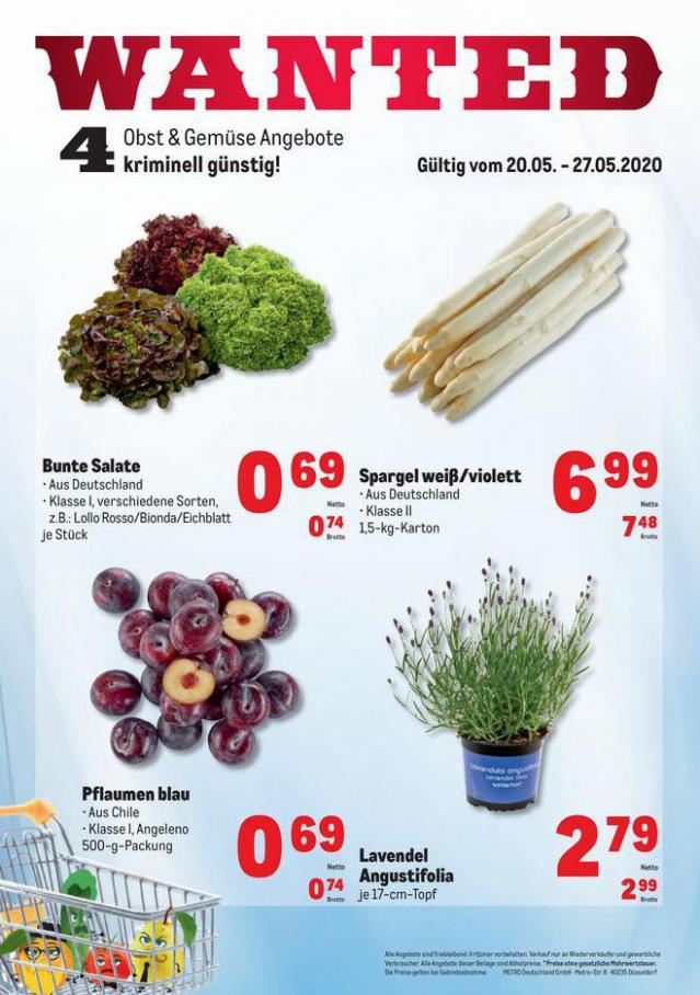 Obst & Gemüse Frischepreise . Metro (2020-05-27-2020-05-27)