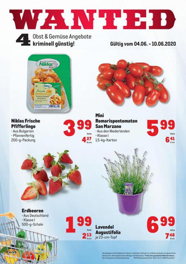 Obst & Gemüse Frischepreise . Metro (2020-06-10-2020-06-10)