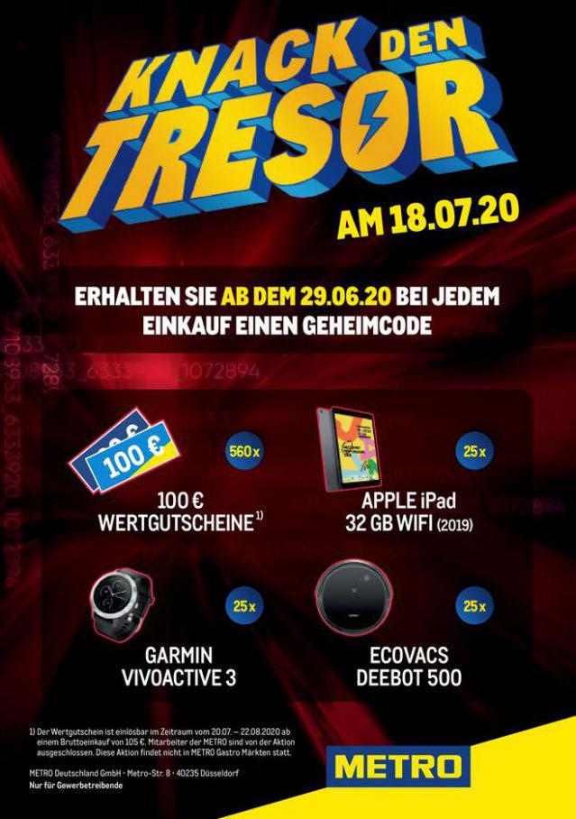 Tresor-Aktion . Metro (2020-07-17-2020-07-17)