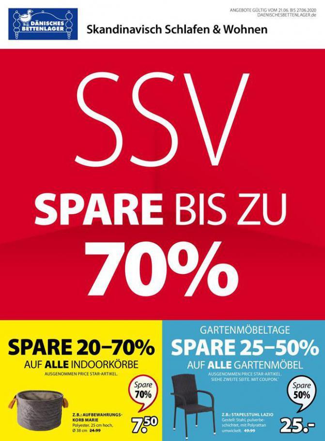 SSV Spare bis zu 70% . Dänisches Bettenlager (2020-06-27-2020-06-27)