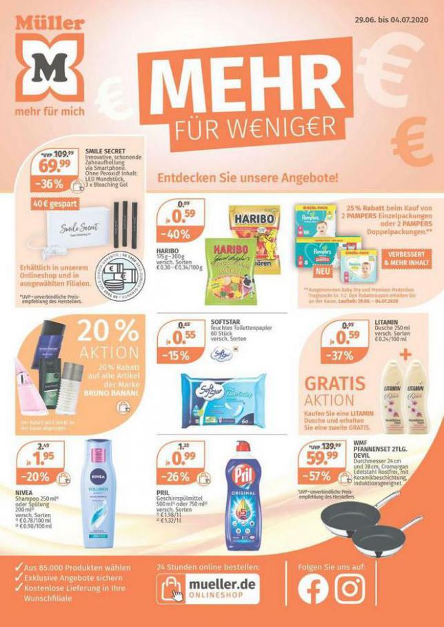 Mehr für weniger  . Müller (2020-07-04-2020-07-04)