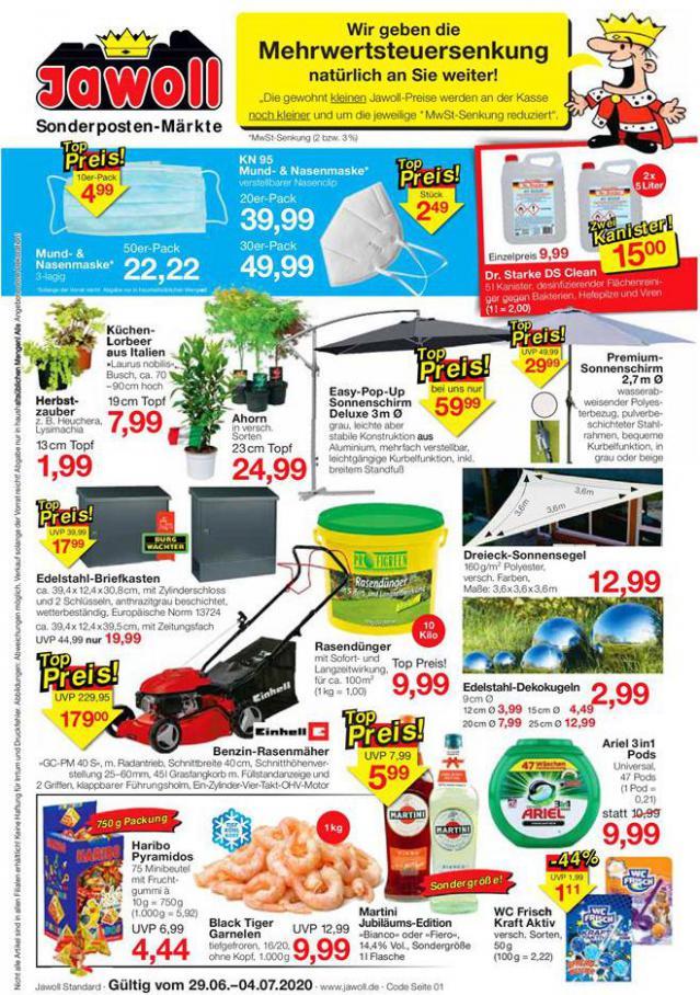 Angebote der Woche . Jawoll (2020-07-04-2020-07-04)