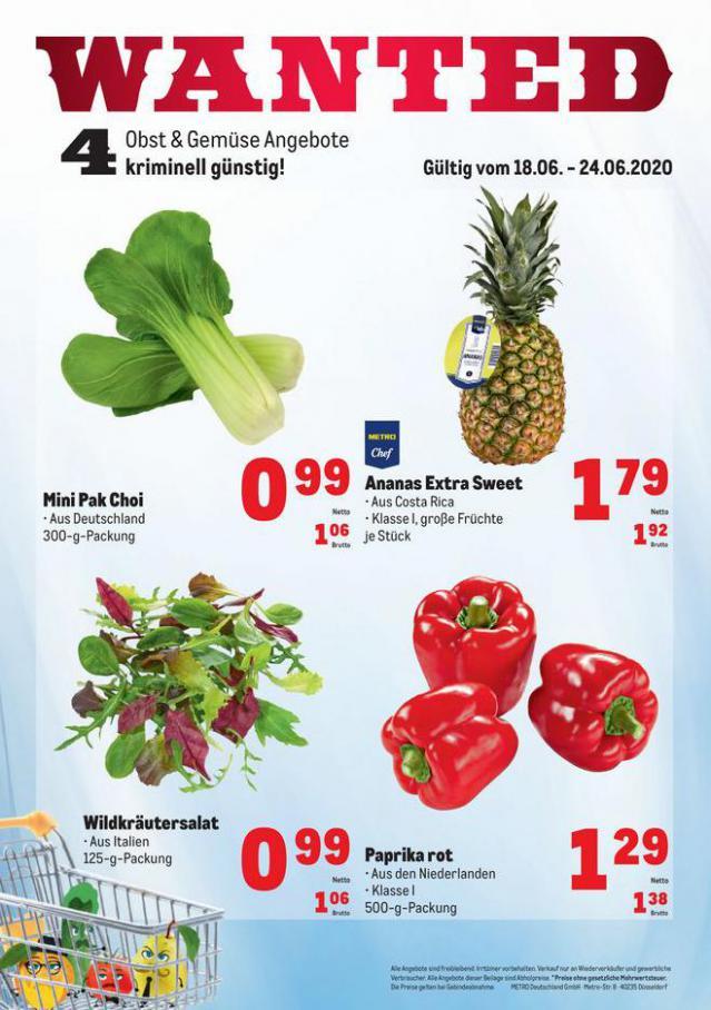 Obst & Gemüse Frischepreise . Metro (2020-06-24-2020-06-24)