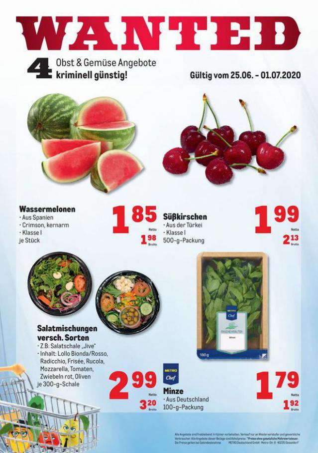 Obst & Gemüse Frischepreise . Metro (2020-07-01-2020-07-01)