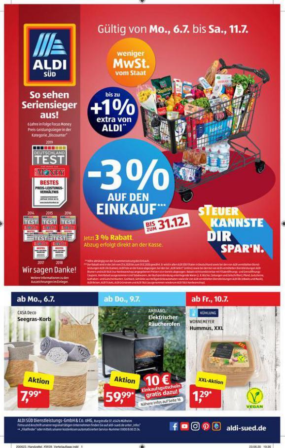 Angebote  . Aldi Süd (2020-07-11-2020-07-11)