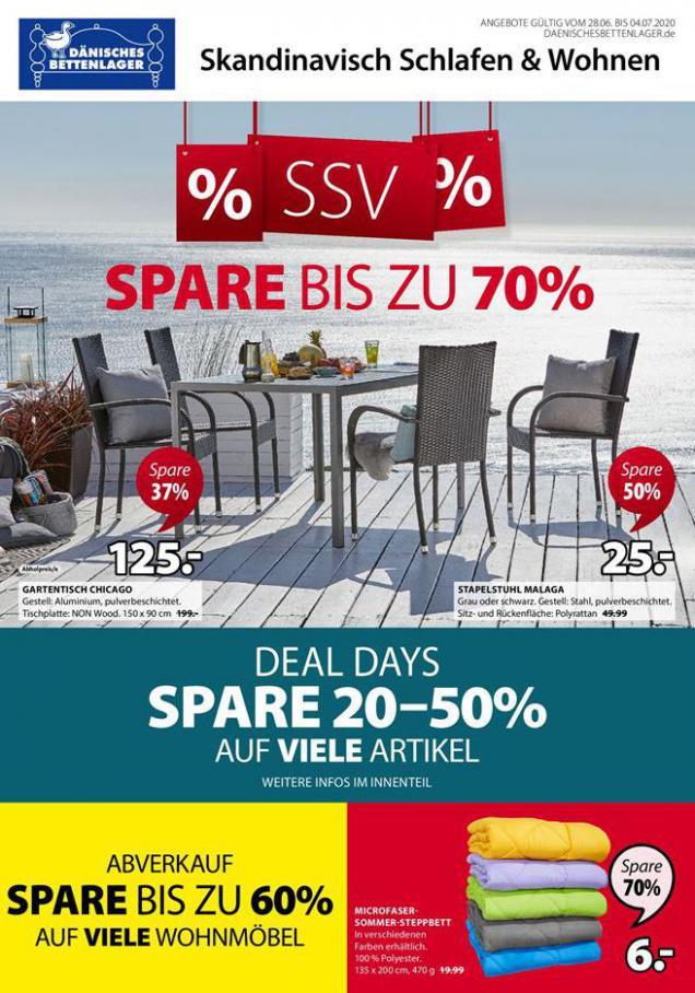 SSV Spare bis zu70% . Dänisches Bettenlager (2020-07-04-2020-07-04)