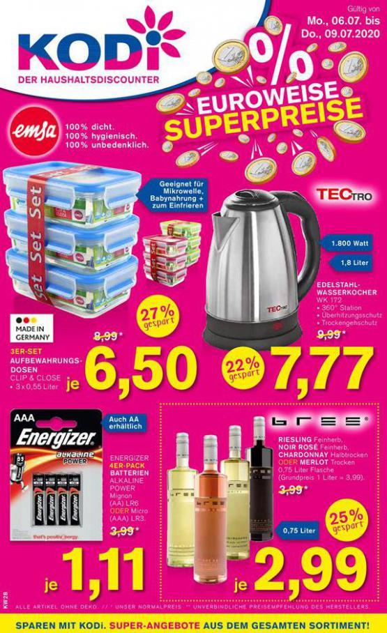 % EUROWEISE SUPERPREISE . KODi (2020-07-09-2020-07-09)