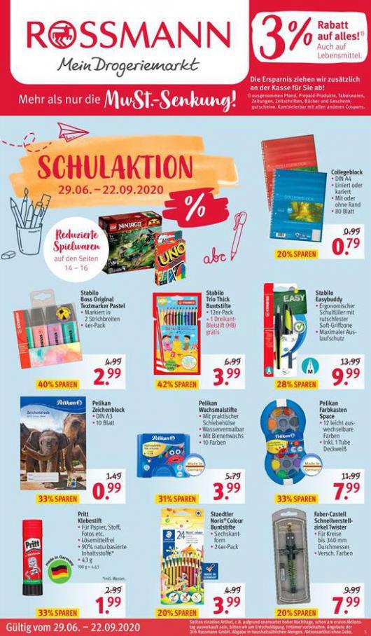 SCHULAKTION . Rossmann (2020-09-22-2020-09-22)