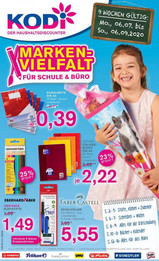 Marken-vielfalt für schule & büro . KODi (2020-09-06-2020-09-06)