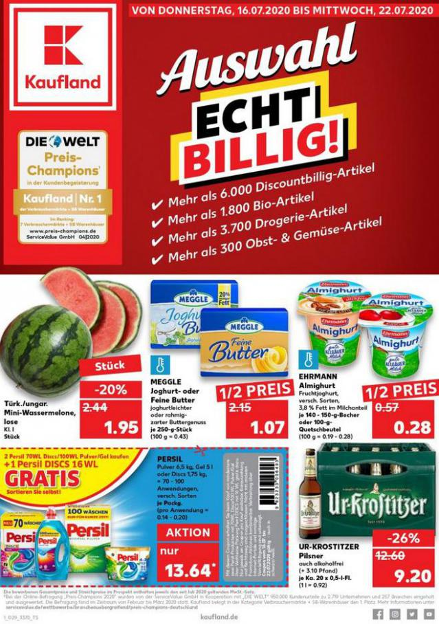 Angebote Kaufland . Kaufland (2020-07-22-2020-07-22)