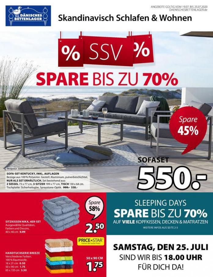 % SSV % SPARE bis zu 70% . Dänisches Bettenlager (2020-07-25-2020-07-25)