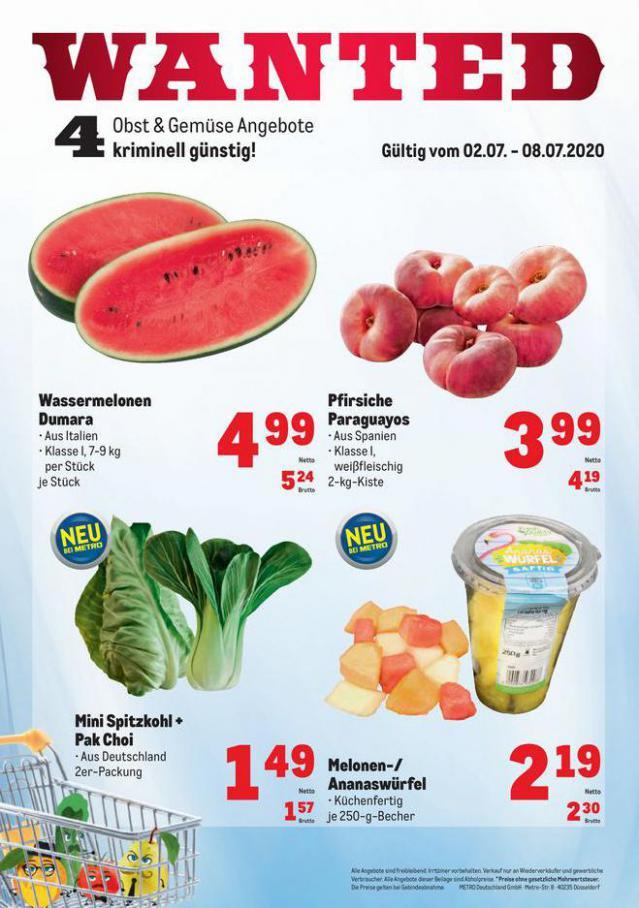 Obst & Gemüse Frischepreise . Metro (2020-07-08-2020-07-08)