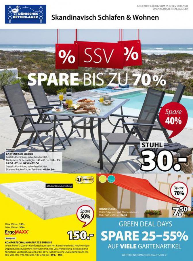% SSV % SPARE bis zu 70% . Dänisches Bettenlager (2020-07-18-2020-07-18)