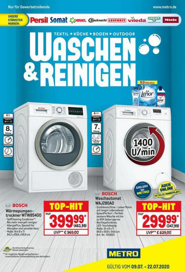 Waschen & Reinigen . Metro (2020-07-22-2020-07-22)