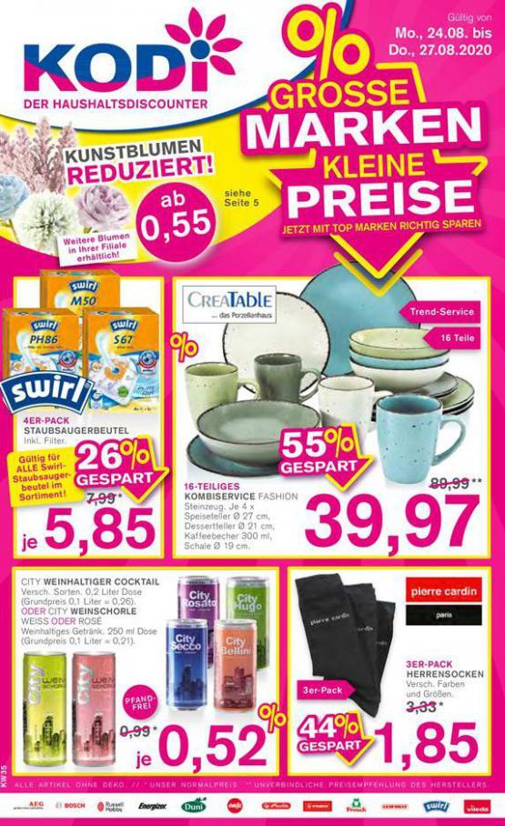 %Grosse Marken Kleine Preise . KODi (2020-08-27-2020-08-27)