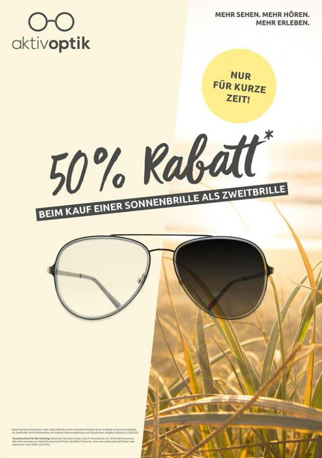 50% Rabatt . Aktiv Optik (2020-08-22-2020-08-22)