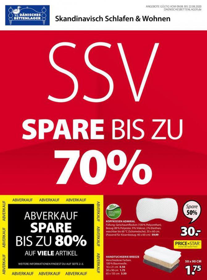 SSV Spare bis zu 70% . Dänisches Bettenlager (2020-08-22-2020-08-22)