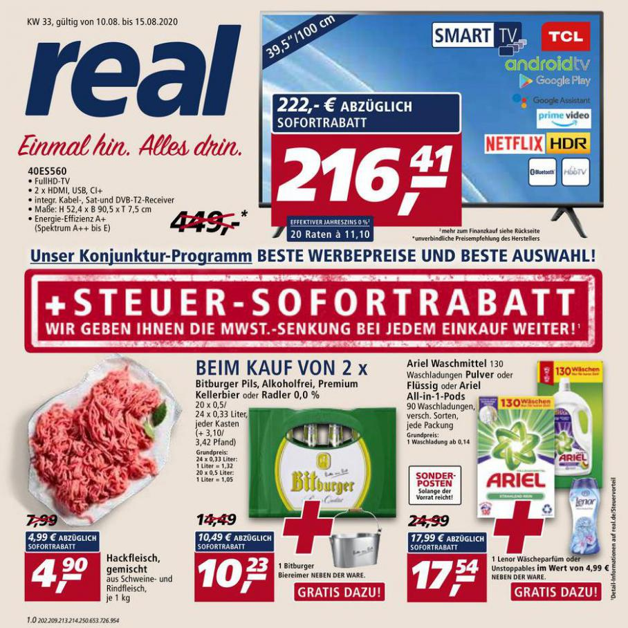 Prospekt Woche 33 . real (2020-08-15-2020-08-15)