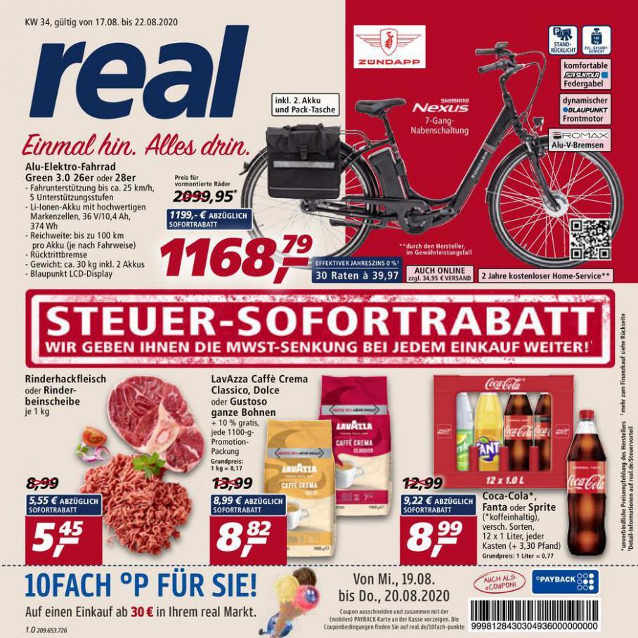 Prospekt Woche 34 . real (2020-08-22-2020-08-22)