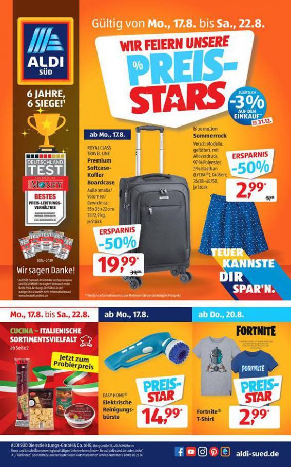 Wir Feiern Unsere PREIS-STARS . Aldi Süd (2020-08-22-2020-08-22)