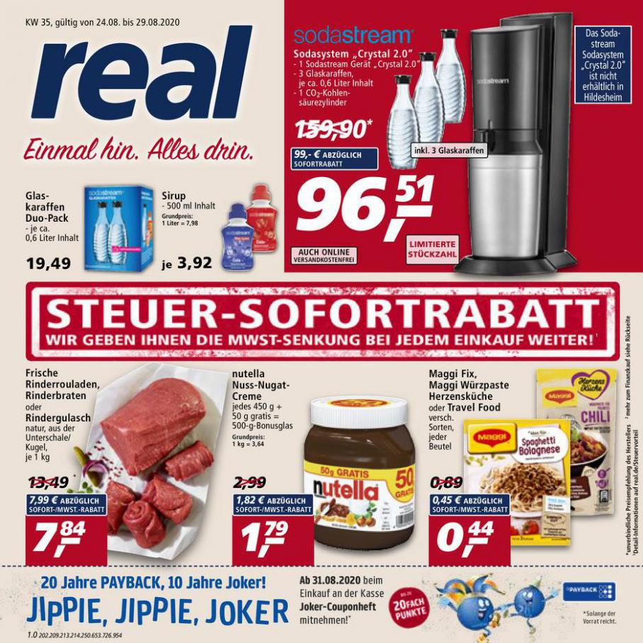 Prospekt Woche 35 . real (2020-08-29-2020-08-29)
