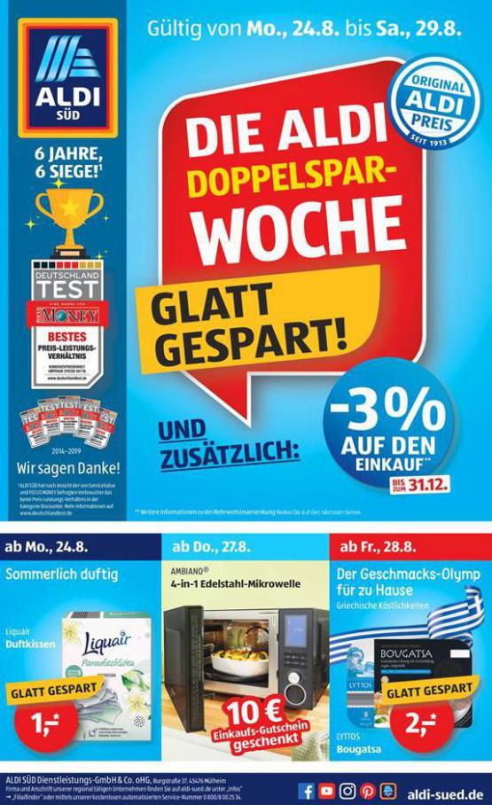 Die ALDI Doppelspar-WOCHE . Aldi Süd (2020-08-29-2020-08-29)