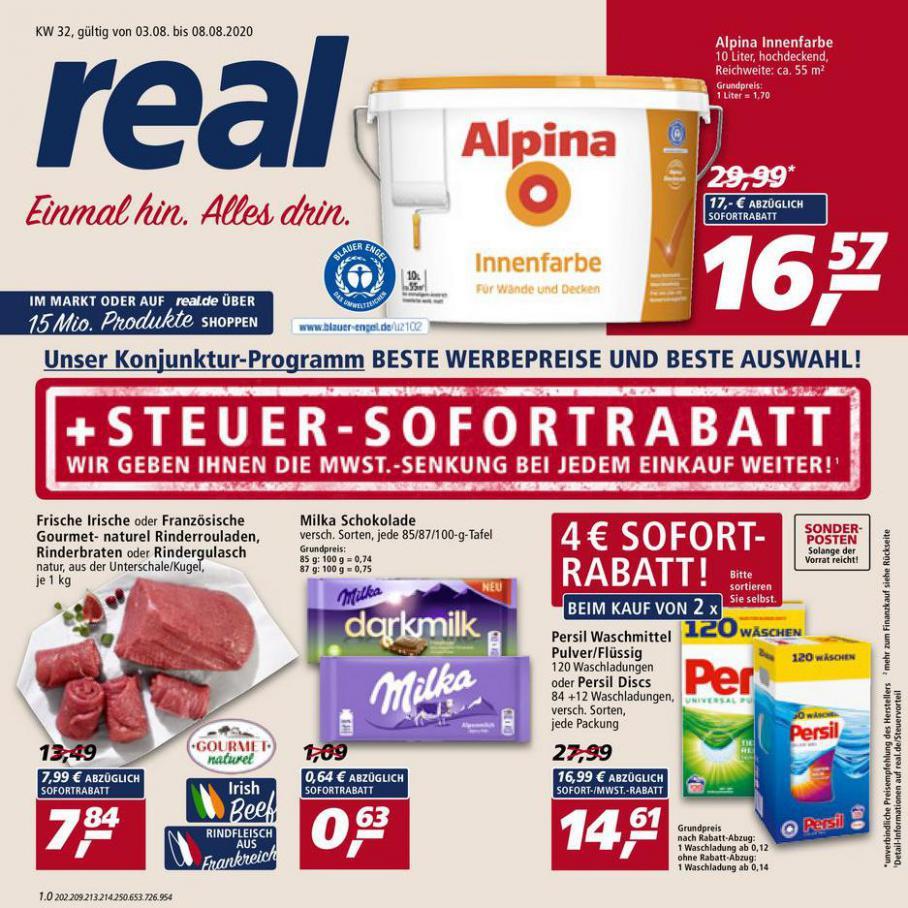 Prospekt Woche 32 . real (2020-08-08-2020-08-08)