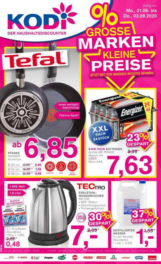 %Grosse Marken Kleine Preise . KODi (2020-09-03-2020-09-03)