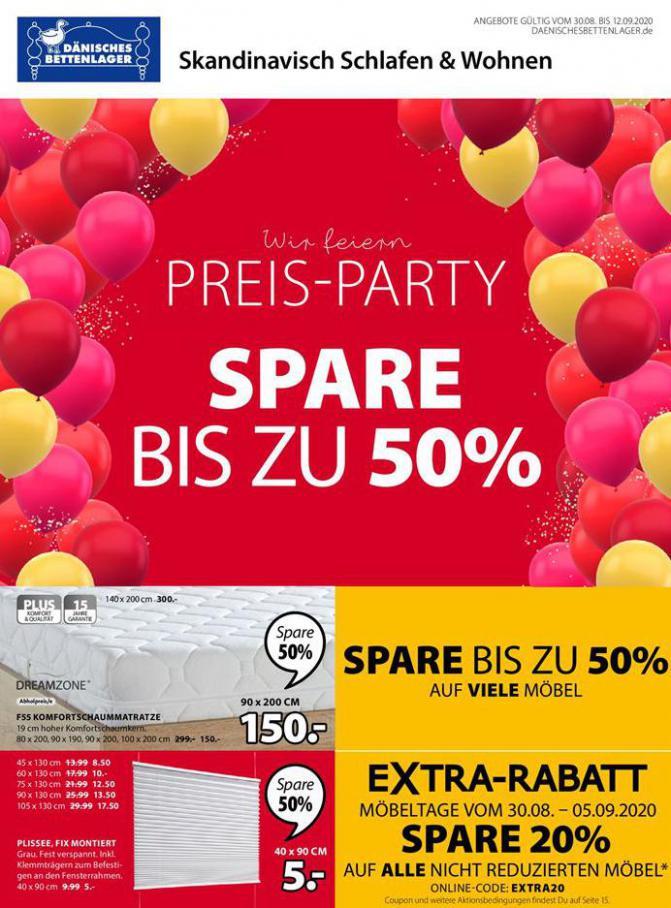 Preis -Party . Dänisches Bettenlager (2020-09-12-2020-09-12)
