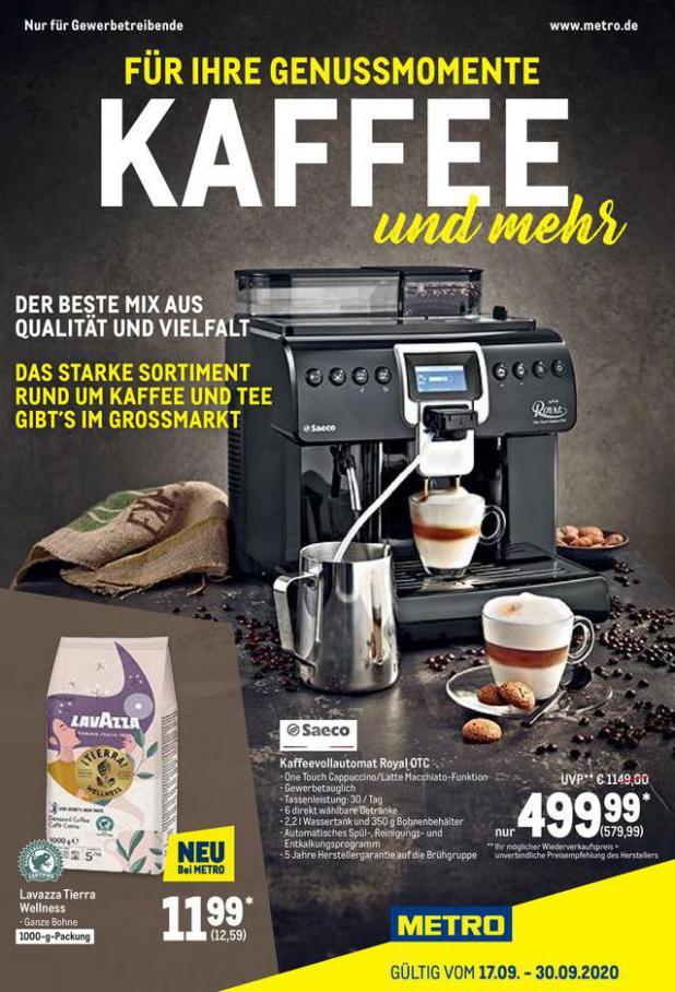 Kaffee Spezial . Metro (2020-09-30-2020-09-30)