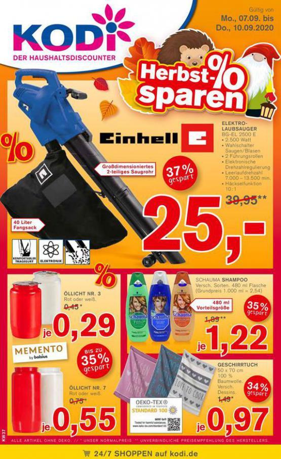Herbst-Sparen % . KODi (2020-09-10-2020-09-10)