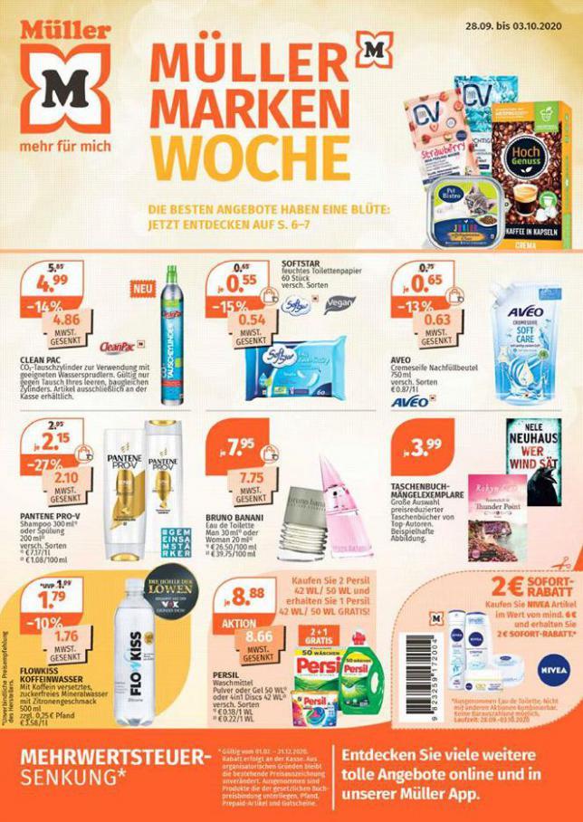 Müller Marken Woche . Müller (2020-10-03-2020-10-03)
