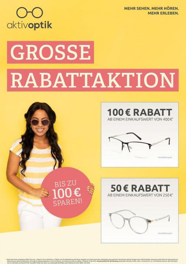 Grosse Rabattaktion . Aktiv Optik (2020-09-19-2020-09-19)
