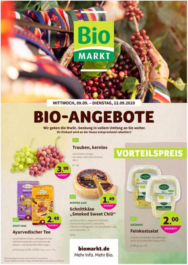 Bio-Angebote . BioMarkt (2020-09-22-2020-09-22)