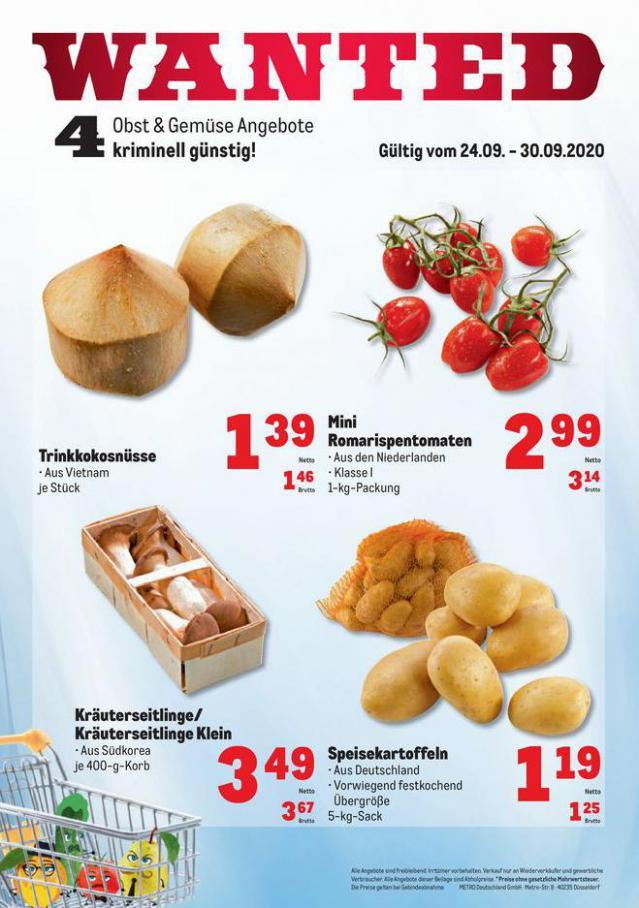 Obst & Gemüse Frischepreise . Metro (2020-09-30-2020-09-30)