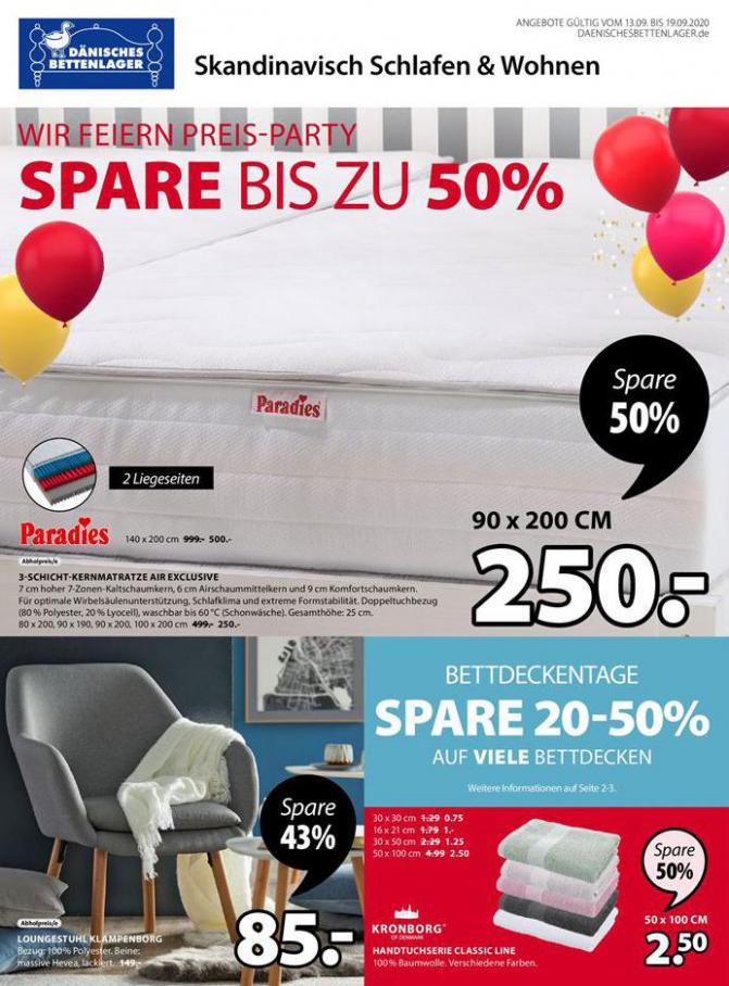 Wir Feiern Preis-Party . Dänisches Bettenlager (2020-09-19-2020-09-19)