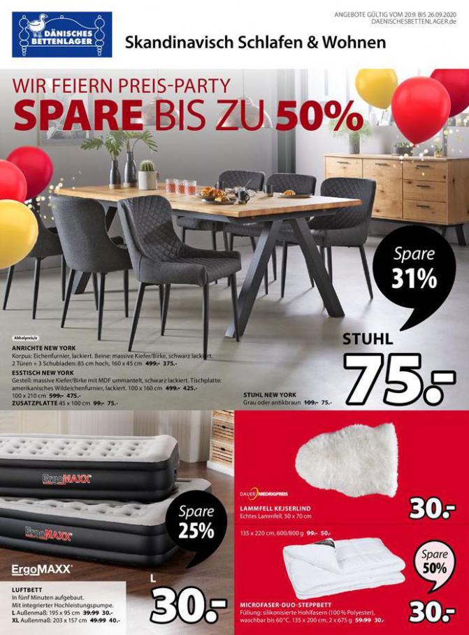 Wir Feiern Preis-Party . Dänisches Bettenlager (2020-09-26-2020-09-26)