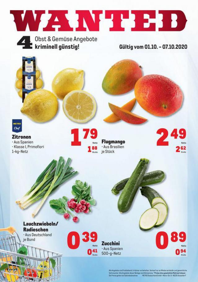 Obst & Gemüse Frischepreise . Metro (2020-10-07-2020-10-07)