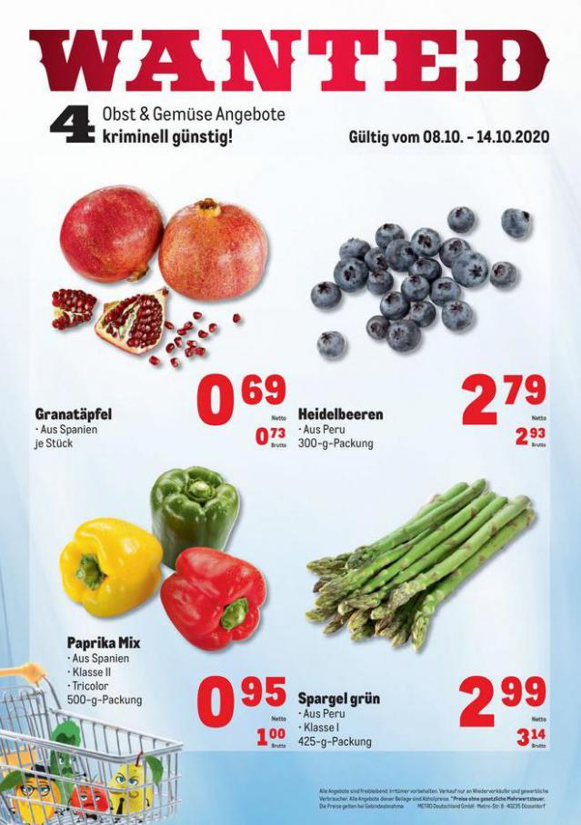 Obst & Gemüse Frischepreise . Metro (2020-10-14-2020-10-14)