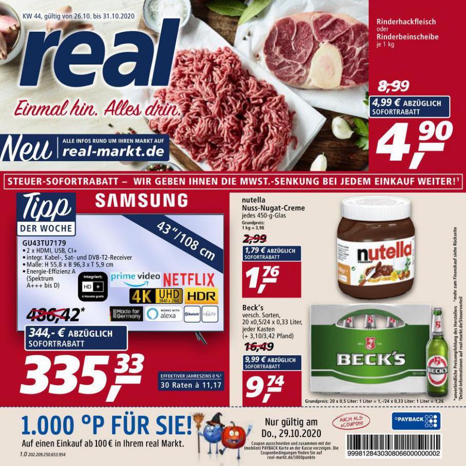 Prospekt Woche 44 . real (2020-10-31-2020-10-31)