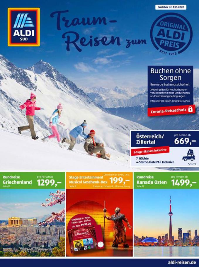 Traum-Reisen zu Aldi Preisen . Aldi Süd (2020-10-31-2020-10-31)