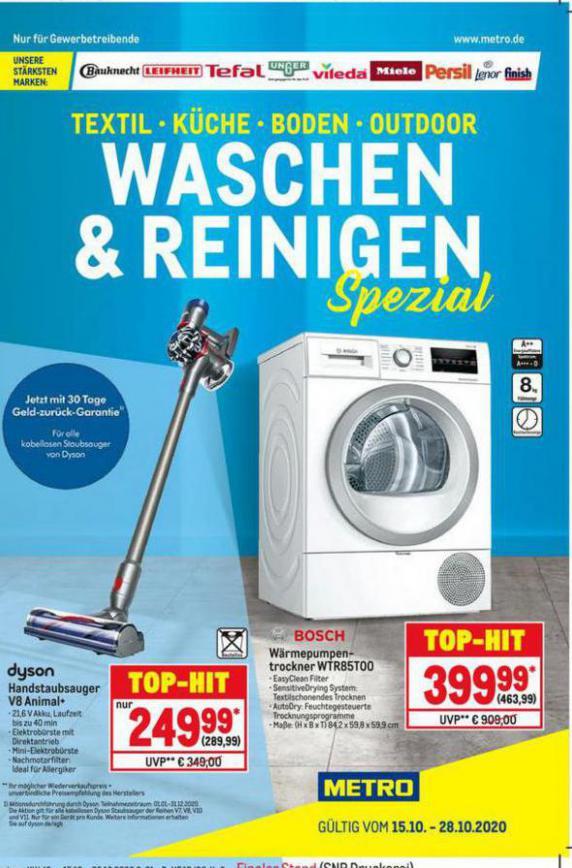 Waschen & Reinigen . Metro (2020-10-28-2020-10-28)
