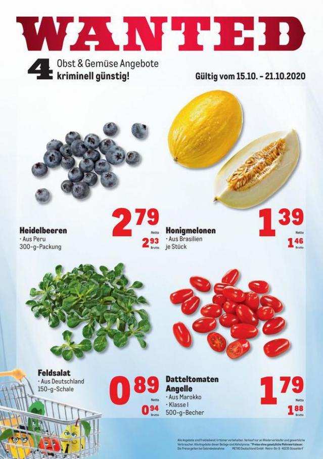 Obst & Gemüse Frischepreise . Metro (2020-10-21-2020-10-21)