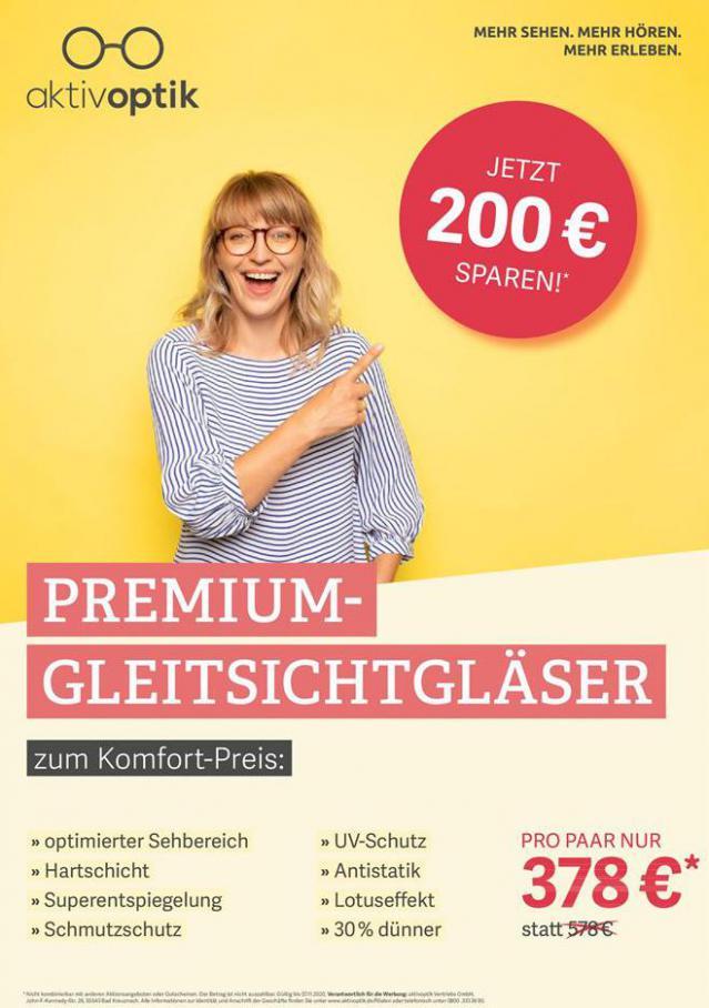 Unser aktuelles Brillen-Angebot für Sie . Aktiv Optik (2020-11-07-2020-11-07)