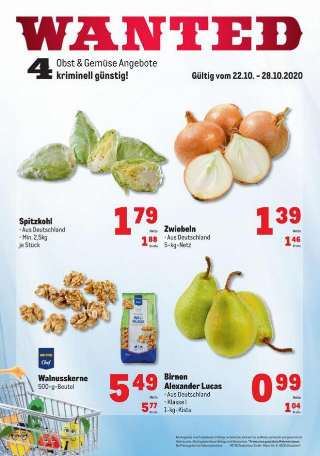 Obst & Gemüse Frischepreise . Metro (2020-10-28-2020-10-28)