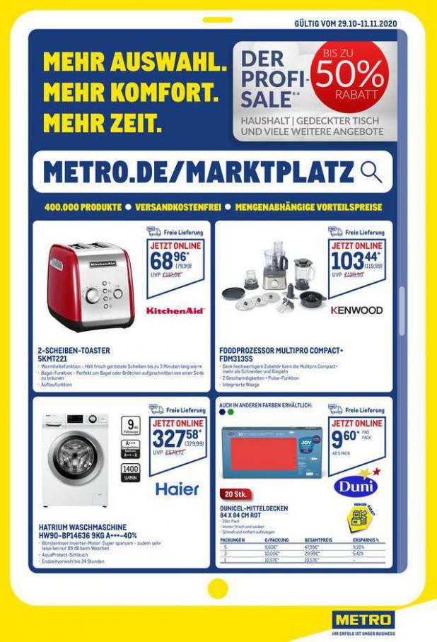 Angebote im Online-Marktplatz . Metro (2020-11-11-2020-11-11)