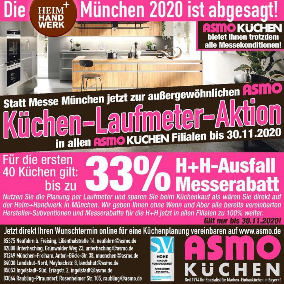 Die München 2020 ist abgesagt! . ASMO Küchen (2020-11-30-2020-11-30)