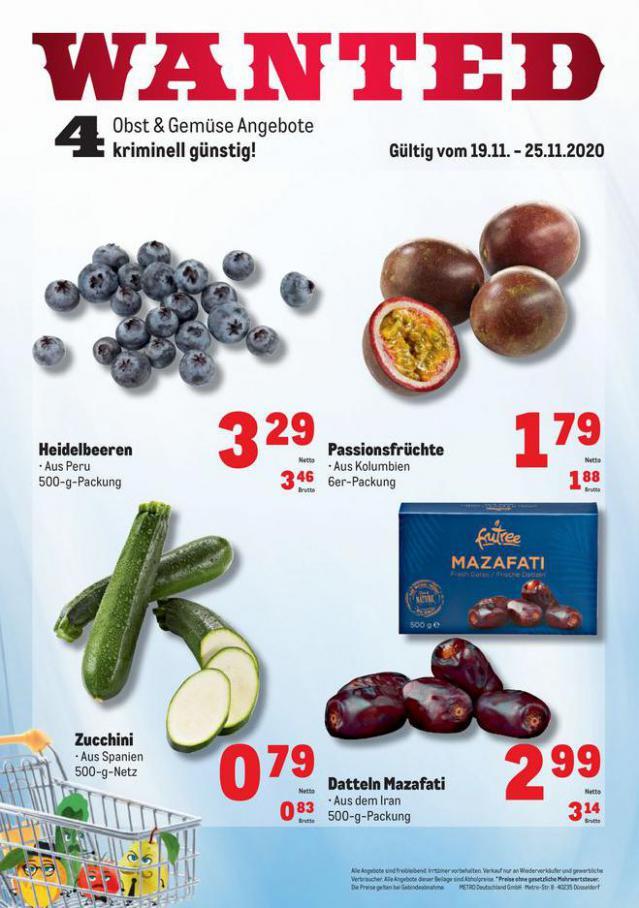 Obst & Gemüse Frischepreise . Metro (2020-11-25-2020-11-25)