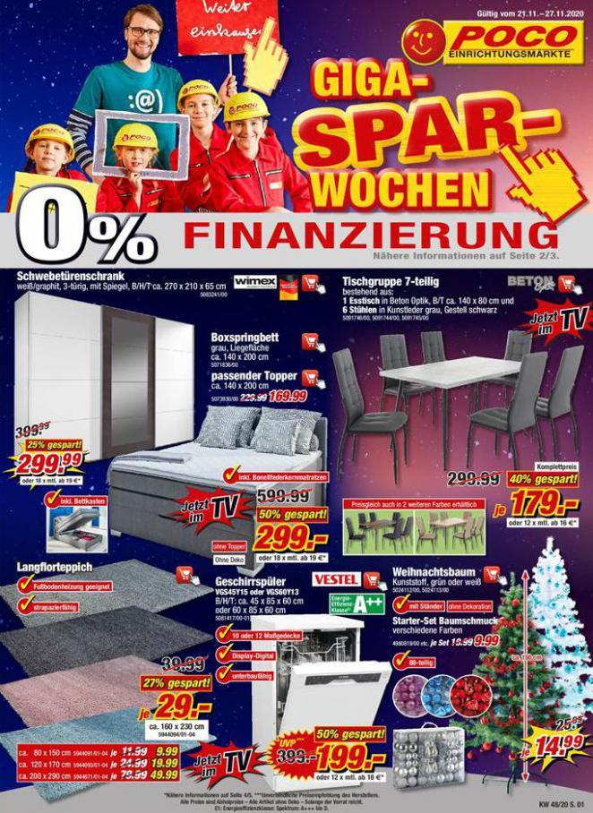 Giga SPAR-Wochen . Poco (2020-11-27-2020-11-27)